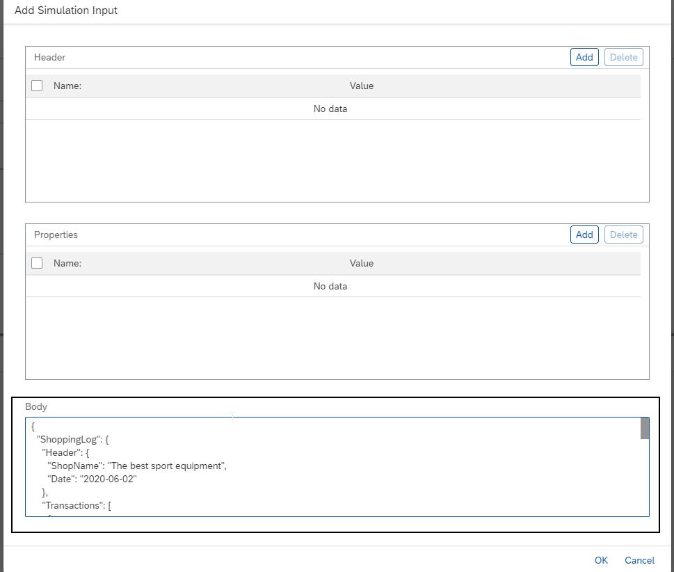 SAP CPI Simulation Mode - Input step